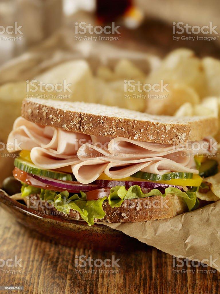 Smoked Turkey Sandwich royalty-free stock photo
