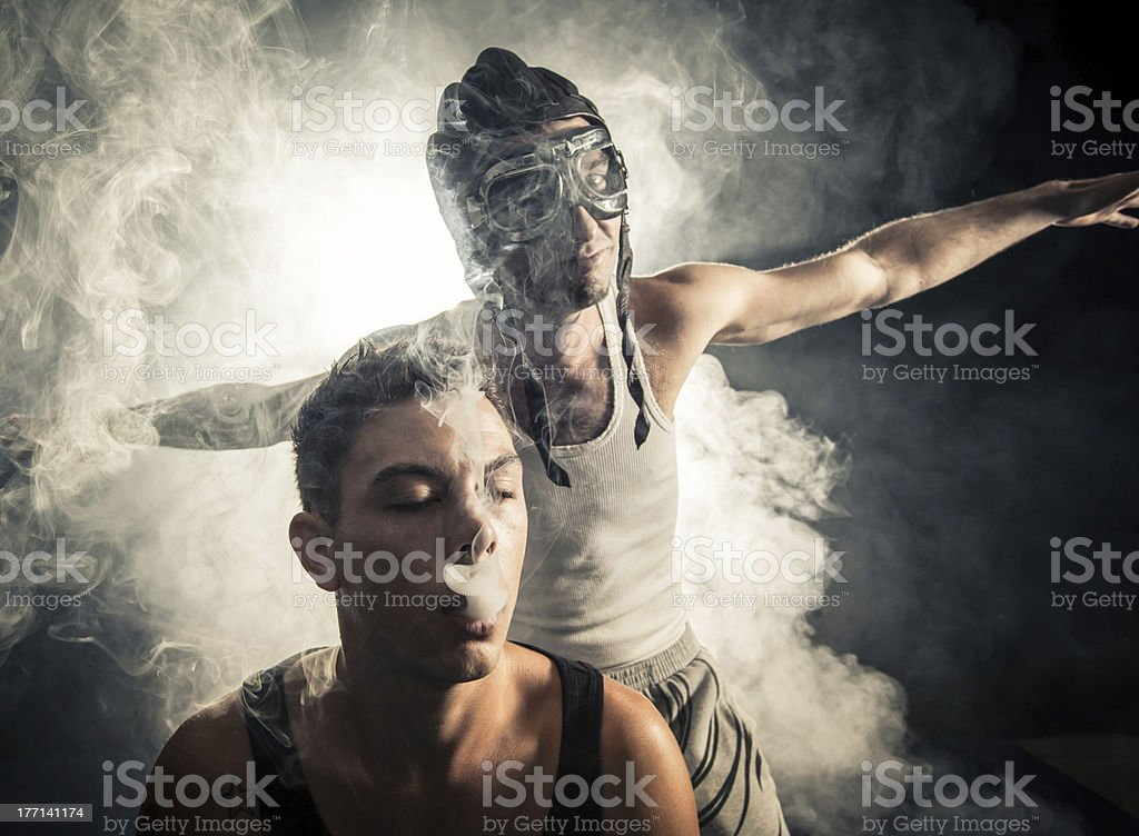 Smoke&Fly royalty-free stock photo