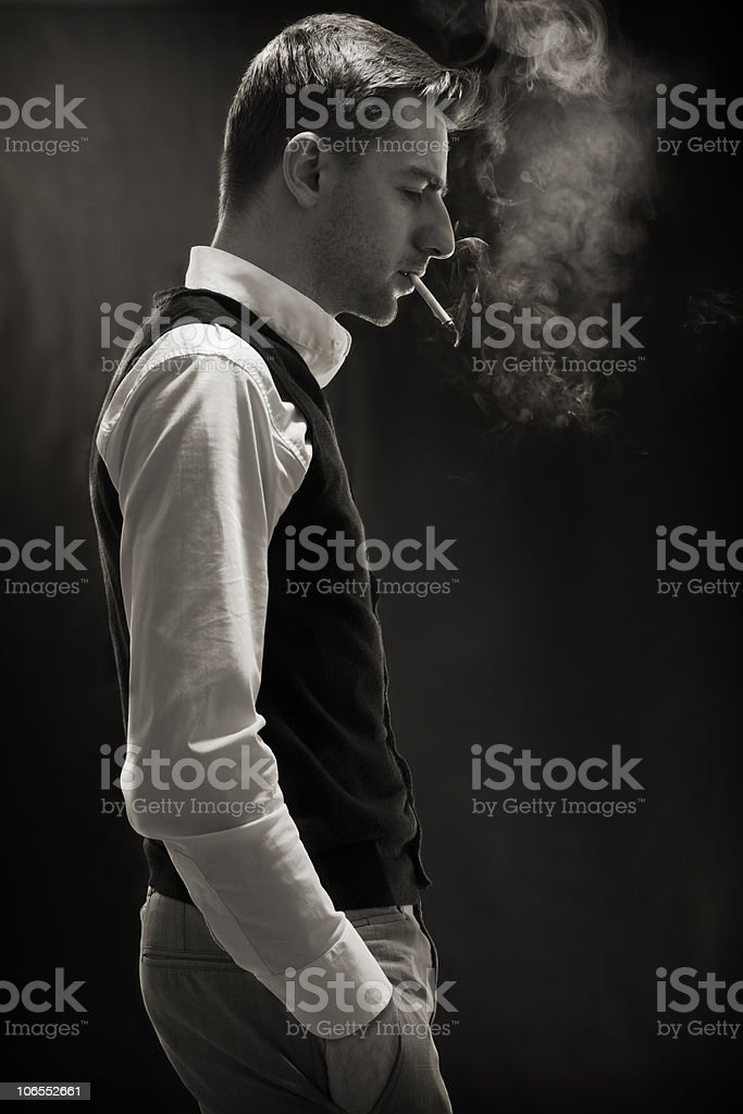 smoker #1 royalty-free stock photo