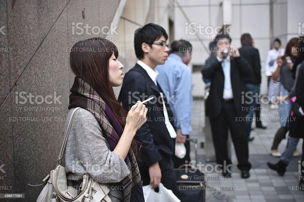 Raucher-Bereich – 23. Oktober, Tokio, Japan – Foto