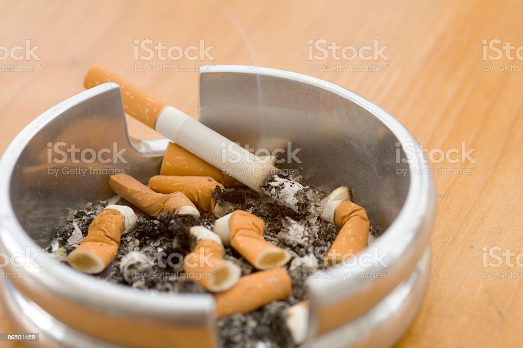 Smokers ashtray royalty-free stock photo