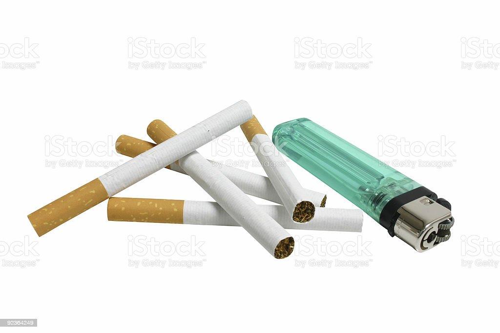 Rauchen und leichter Lizenzfreies stock-foto