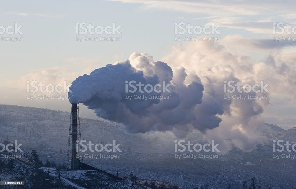 Smokestack emissions royalty-free stock photo