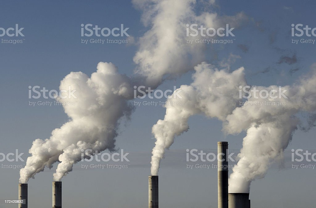 Smokestacks royalty-free stock photo