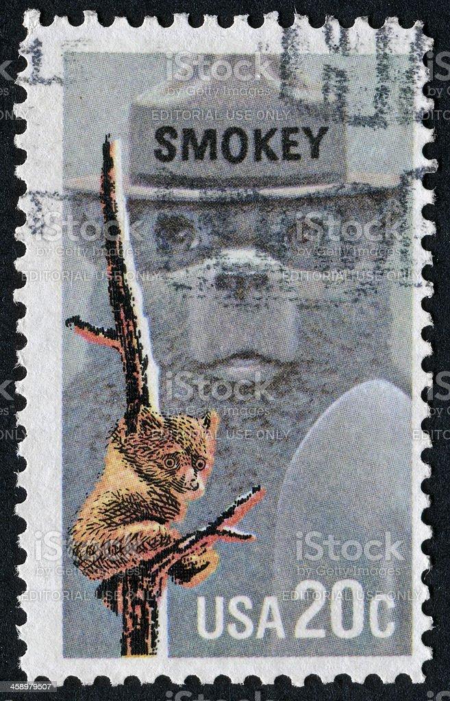Smokey Bear Stamp stock photo