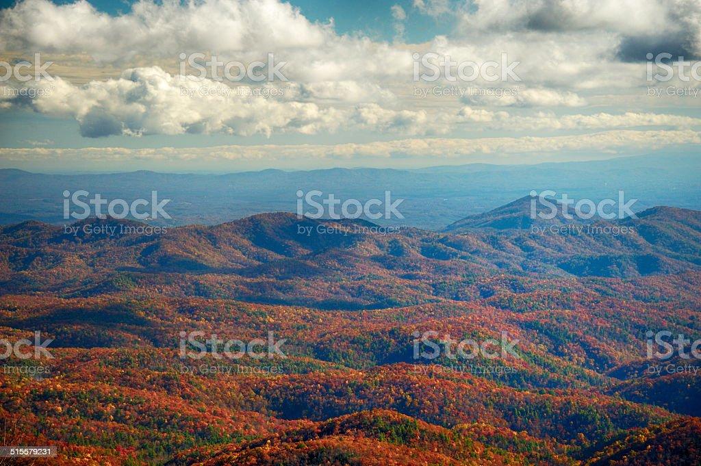 Smokey Mountain Autumn Vivid Color stock photo