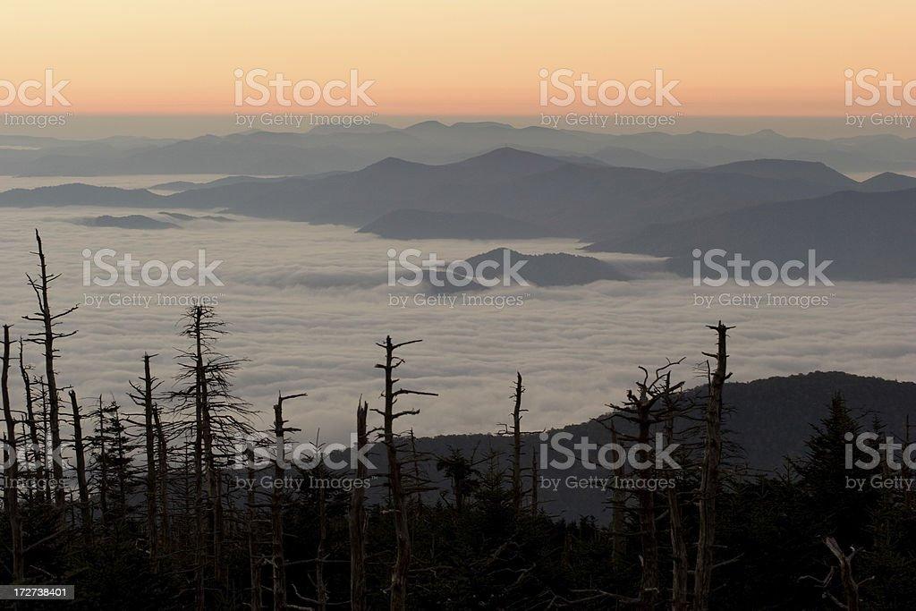 Smokey Mountain Sunrise royalty-free stock photo