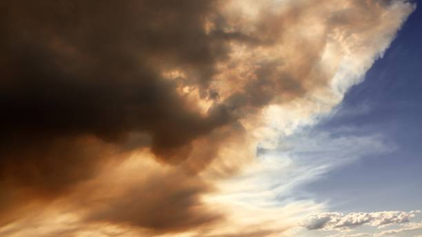 smokey skies - british columbia glacier national park stock pictures, royalty-free photos & images
