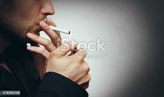 istock Smoking a cigarette. 478284248