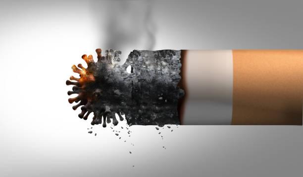 Smoking And Coronavirus stock photo