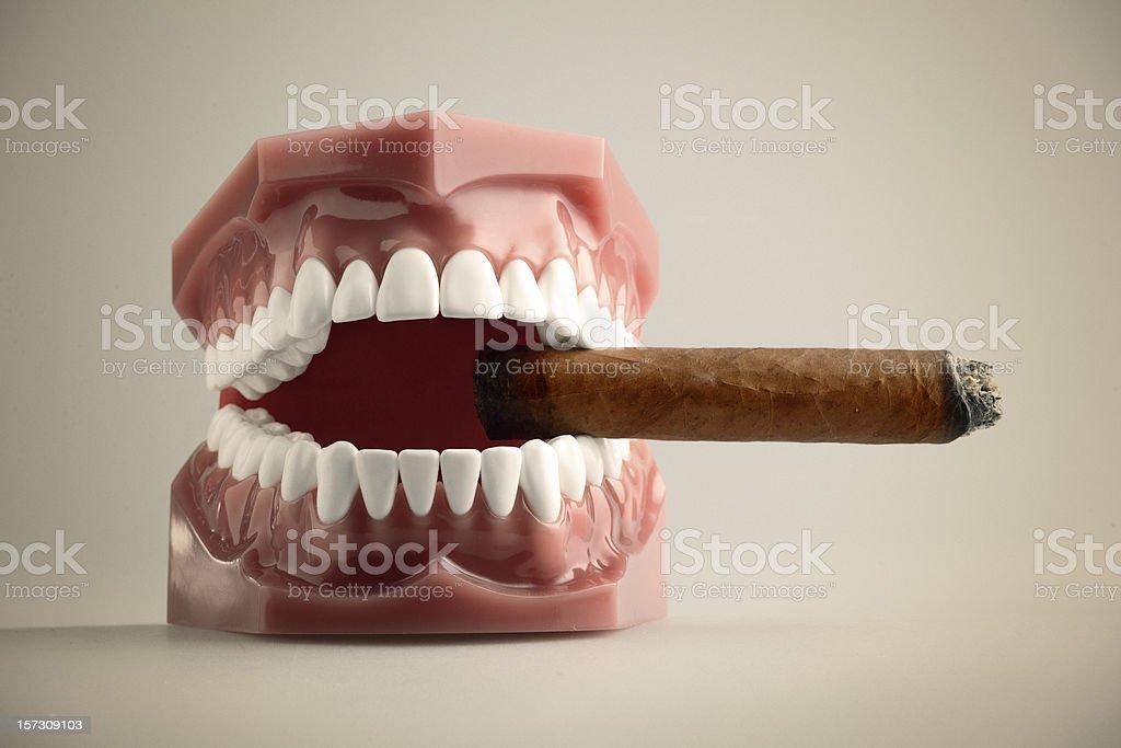 smoking and happy stock photo