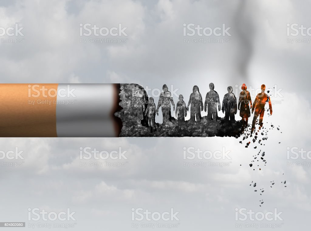 Smoking And Society stock photo