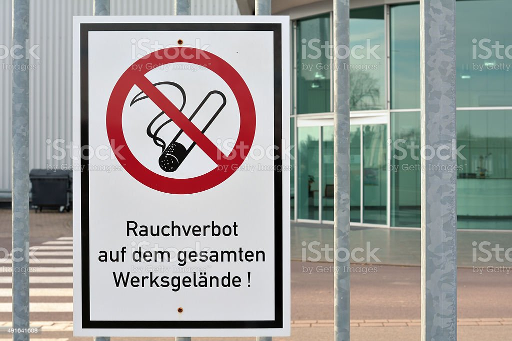 Rauchverbot stock photo