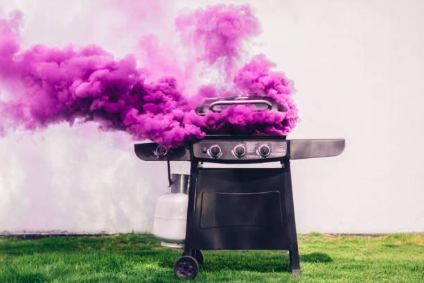 smoking barbecue - burned cooking imagens e fotografias de stock