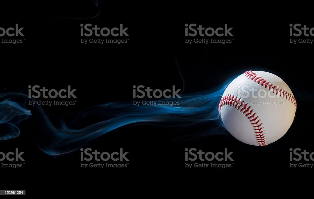 Smoking Baseball stock photo