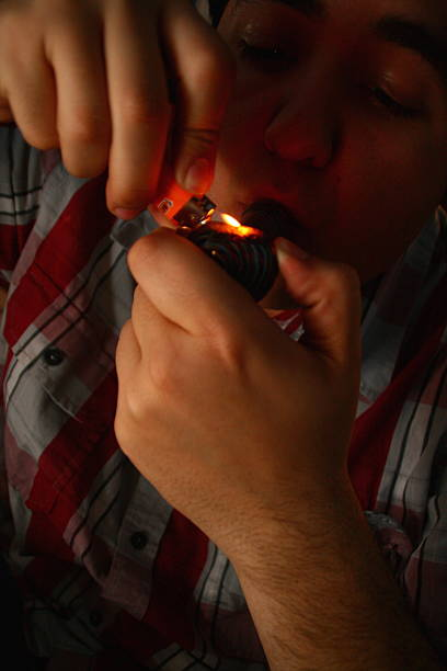 Smoking Cannabis stock photo