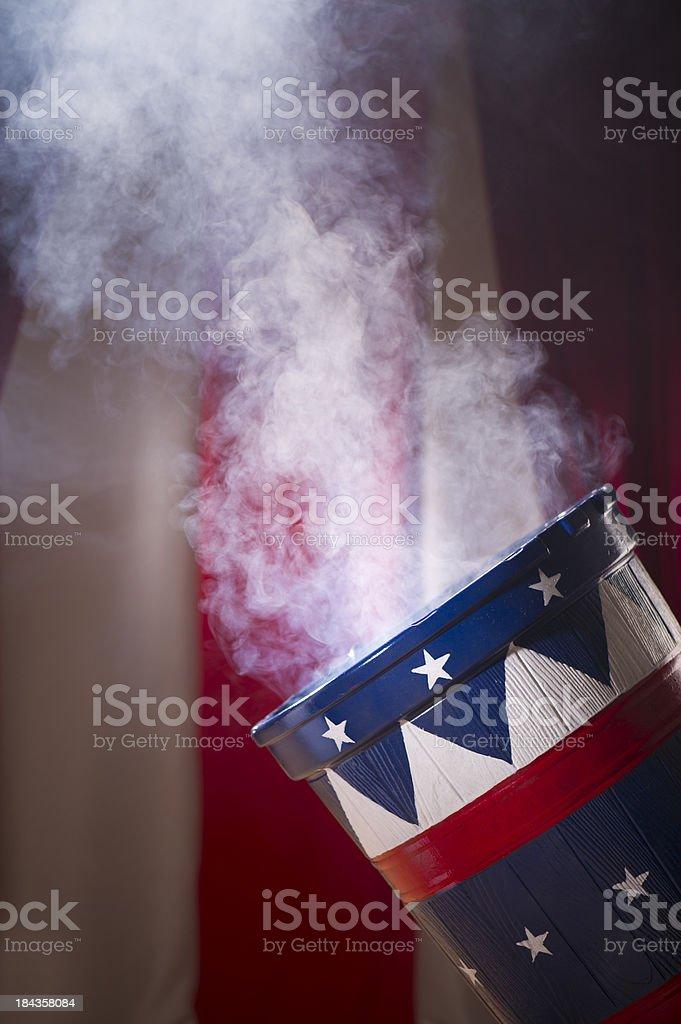 smoking canon stock photo