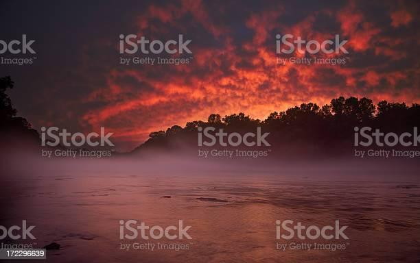 Smoking Chattahoochee River Sunset