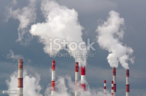 istock Smoking chimneys against the sky 872178912