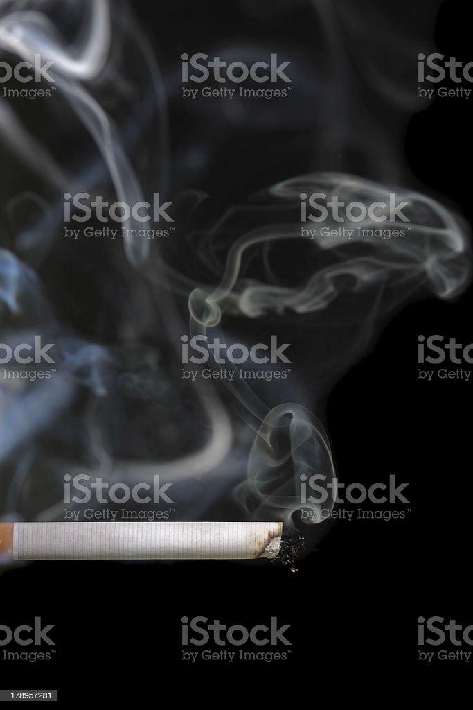 Smoking cigarette royalty-free stock photo