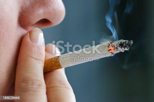 istock Smoking cigarette 183029444