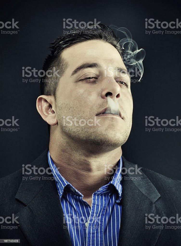 Smoking cigarette stock photo