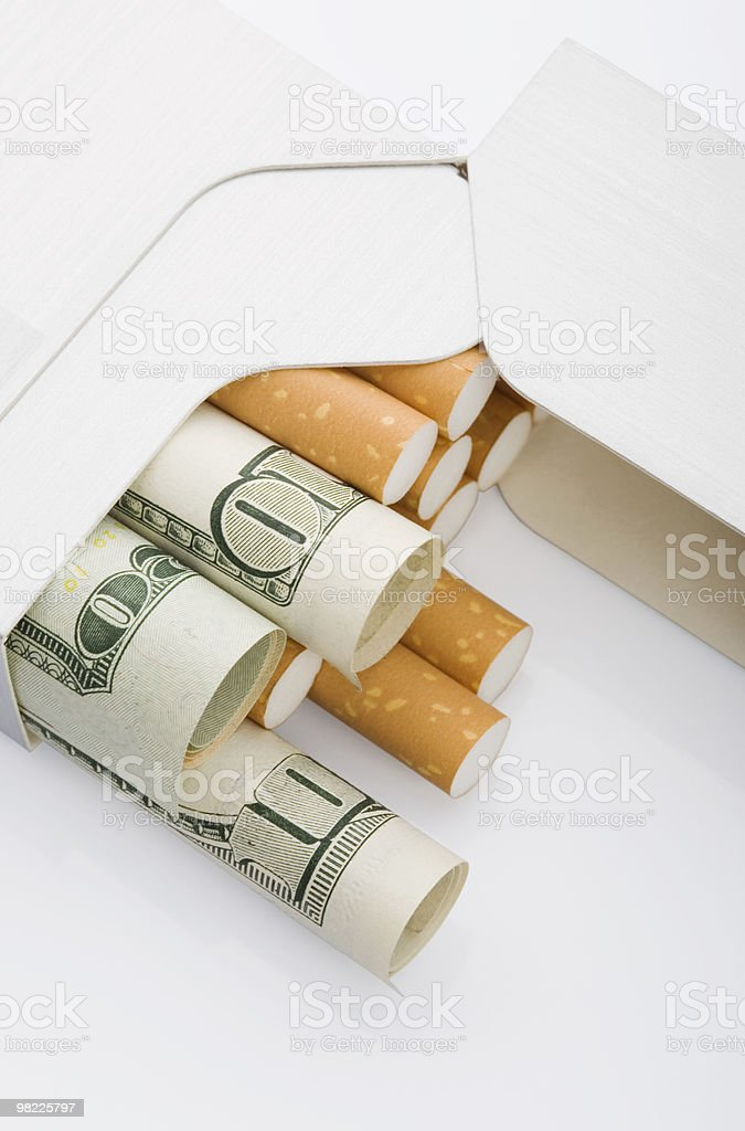 Smoking cost royalty-free stock photo