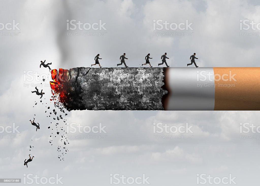 Smoking Death stock photo