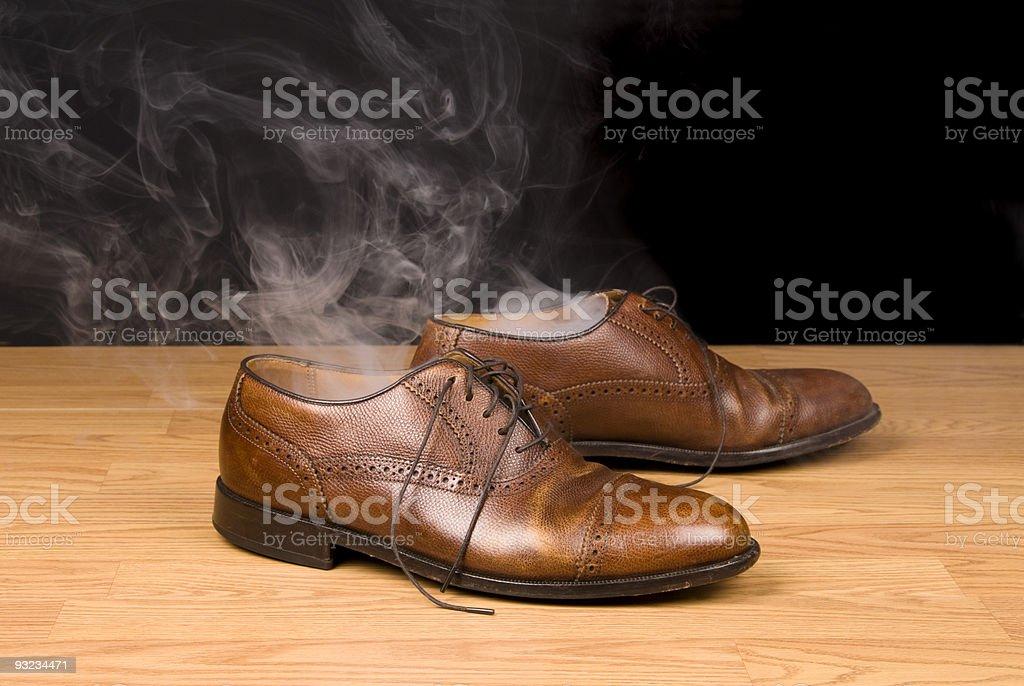 Smoking dress shoes royalty-free stock photo