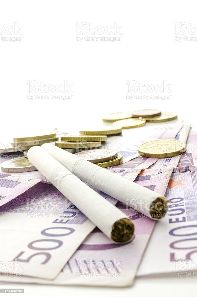 Smoking - expensive habit royalty-free stock photo