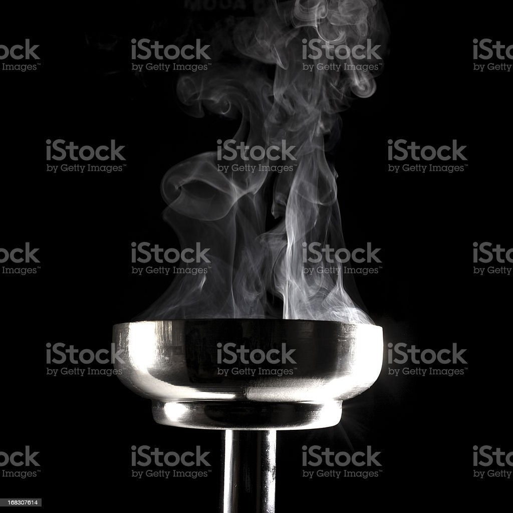 smoking flaming torch stock photo