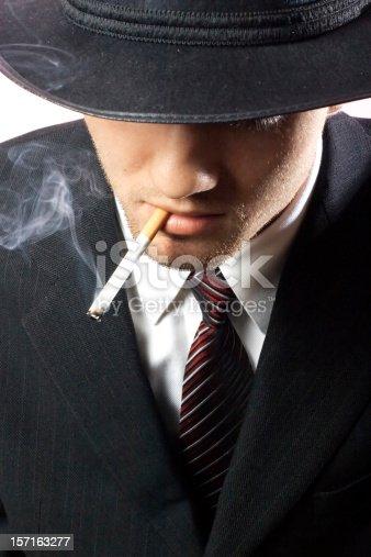 istock Smoking Gangster 157163277