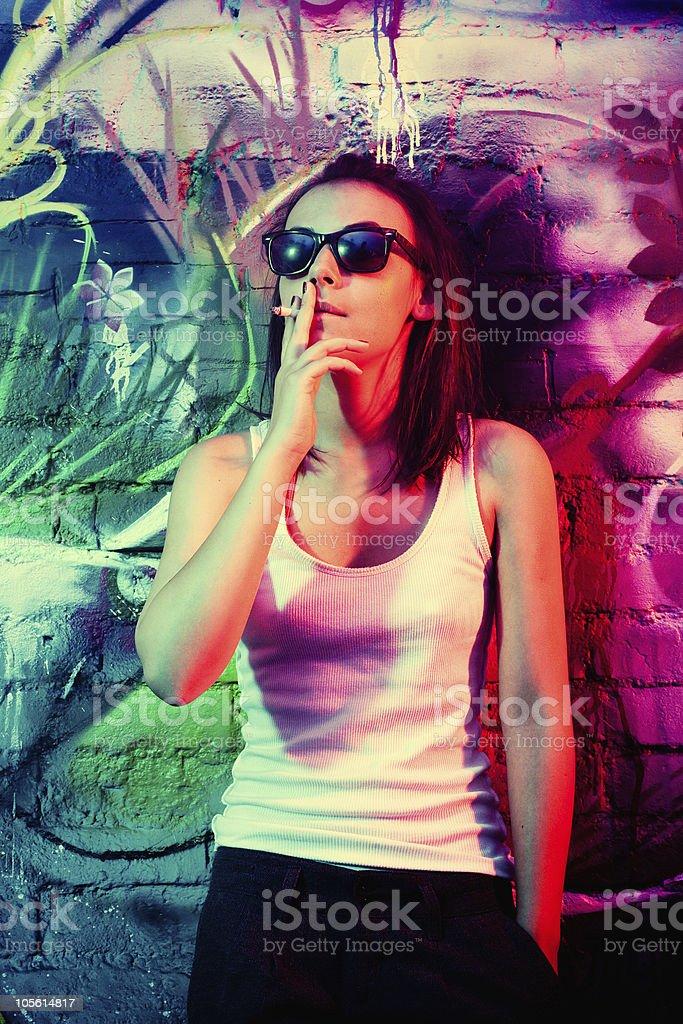 Smoking Girl Attitude Stock Photo Download Image Now Istock