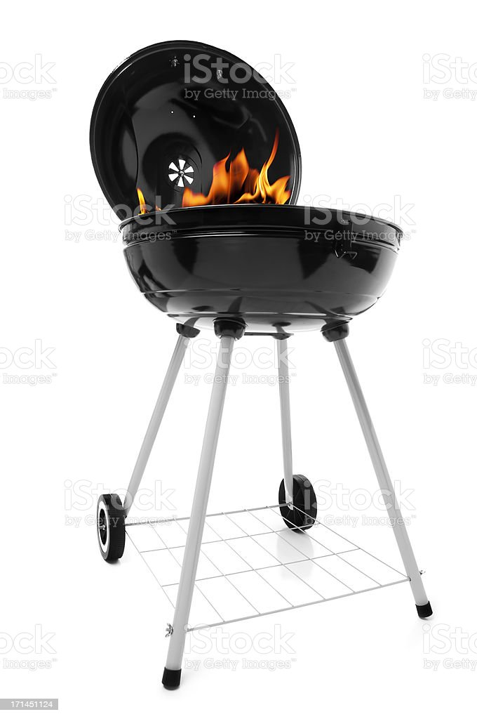 Smoking Grill stock photo