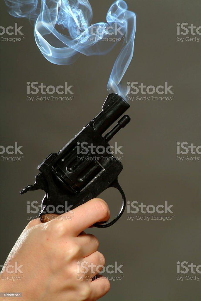Smoking Gun royalty-free stock photo