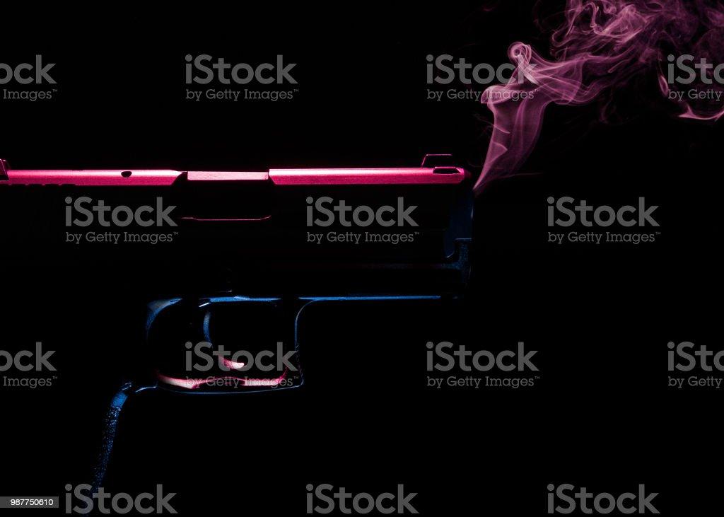 Smoking gun stock photo