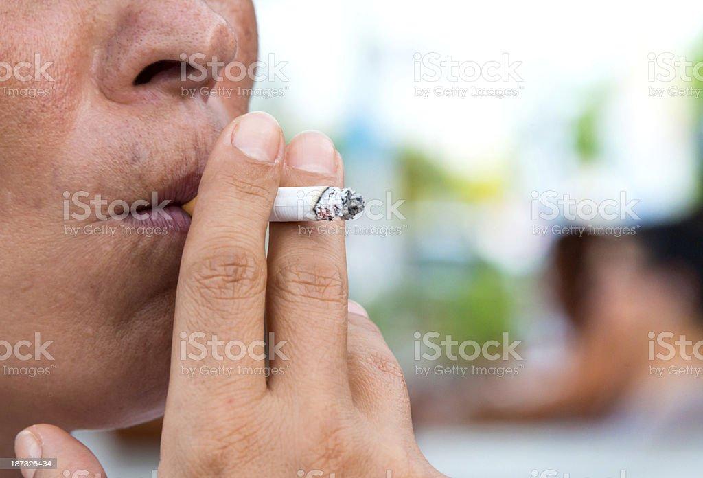 Smoking habit stock photo