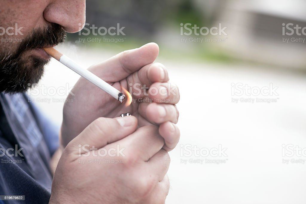 Smoking Hazard stock photo