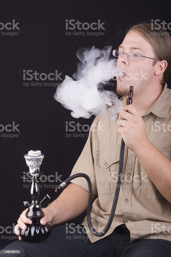 smoking hookah royalty-free stock photo