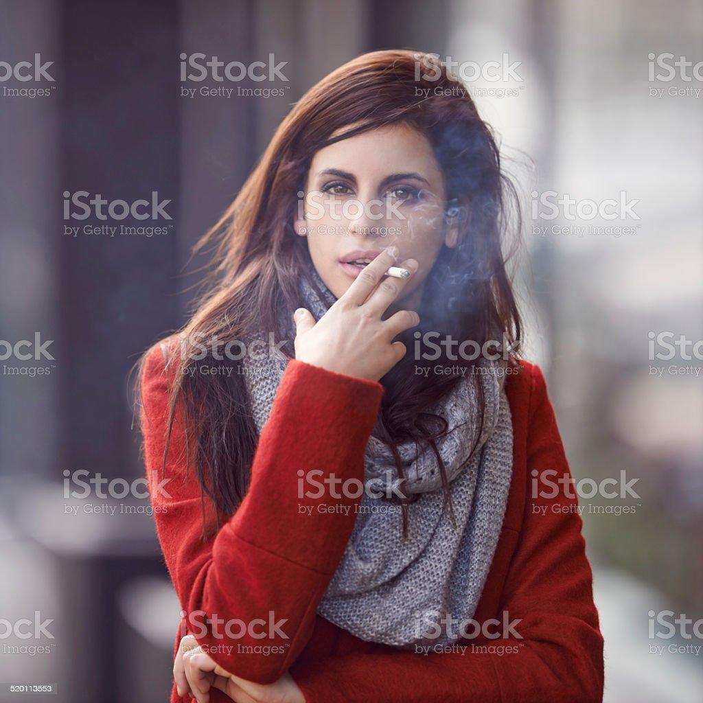 Smoking hot beauty stock photo