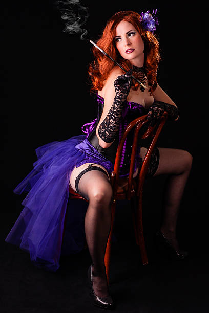 smoking hot burlesque flapper showgirl dancer - burlesque stock photos and pictures