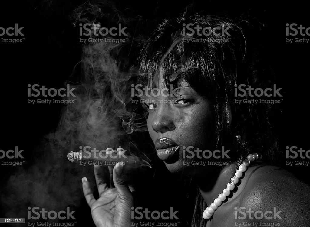 Smoking Hot stock photo