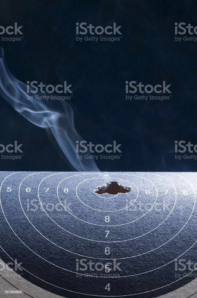 smoking hot shooting royalty-free stock photo