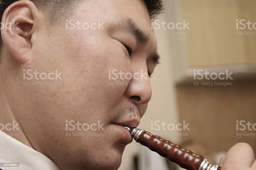 smoking in cafe royalty-free stock photo