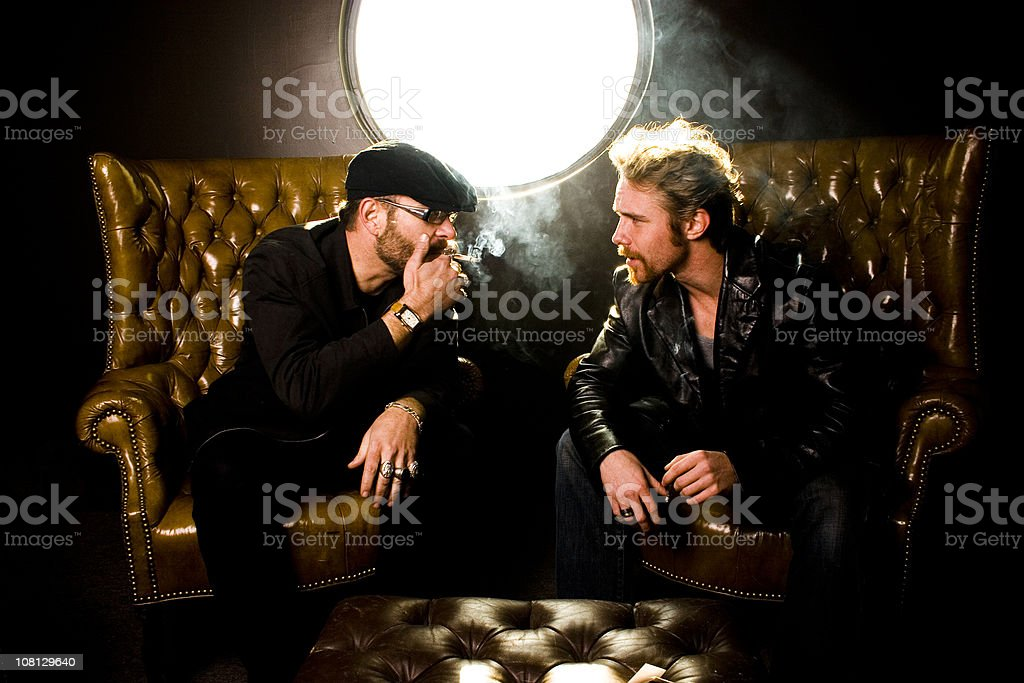 Smoking in the VIP room royalty-free stock photo