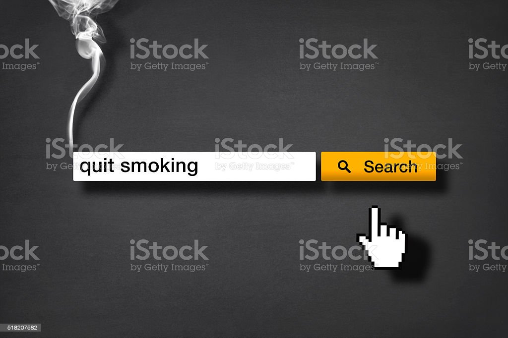 Smoking Issues: Search Engine 'Quit Smoking' stock photo