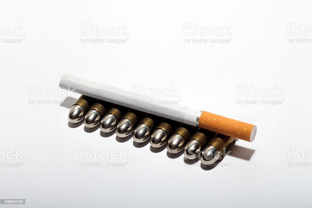 smoking killing stock photo