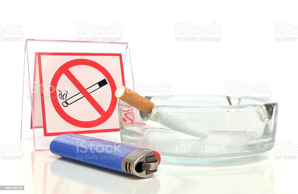 Smoking not allowed royalty-free stock photo