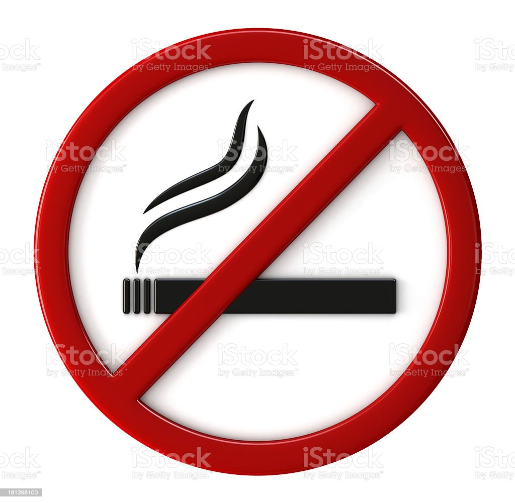 Smoking not allowed stock photo