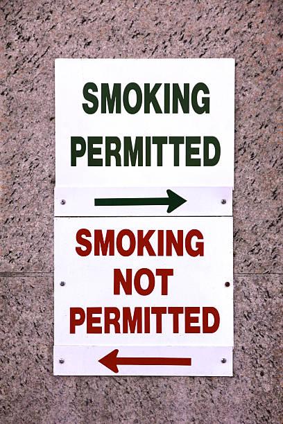 Smoking Permitted stock photo